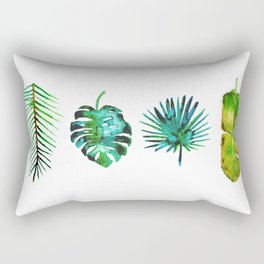 Four Tropical Leaves Rectangular Pillow