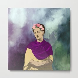 Frida Kahlo Abstract Metal Print