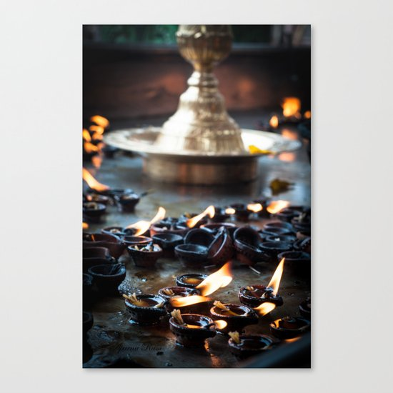 Divine Diyas Canvas Print