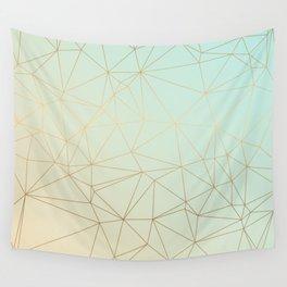 Pastel Geometric Minimalist Pattern Wall Tapestry