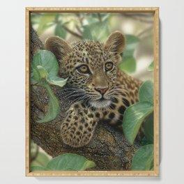 Leopard Cub - Tree Hugger Serving Tray
