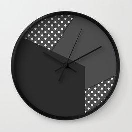 Grey abstract abstract Wall Clock