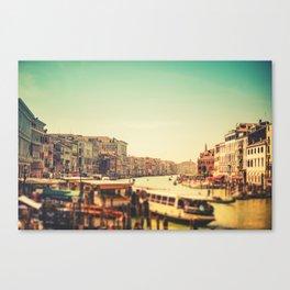 canal grande on venice Canvas Print