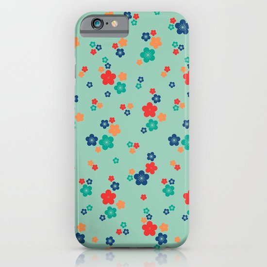 blossom ditsy in grayed jade iPhone & iPod Case