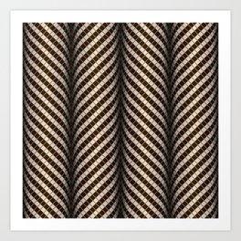 Optical wavy brown pattern Art Print