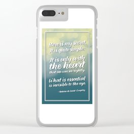 """""""Here is my secret"""" Quote Clear iPhone Case"""
