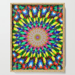 Psychedelic Mandala Colour Burst Serving Tray