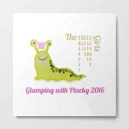Slug Glamping Dark T-shirt Metal Print