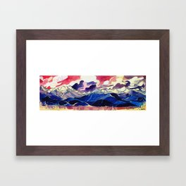 Good Evening Whistler Blackcomb Framed Art Print