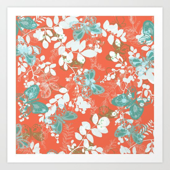 adrienne coral Art Print
