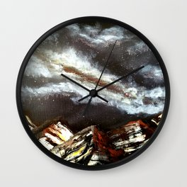 Bronze Peaks Wall Clock