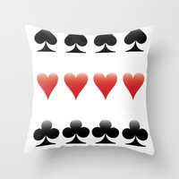 suits Throw Pillows featuring Suits by doodletome