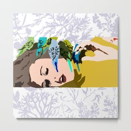 Barbarella & The Birds Metal Print