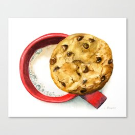 Cookie and milk Canvas Print