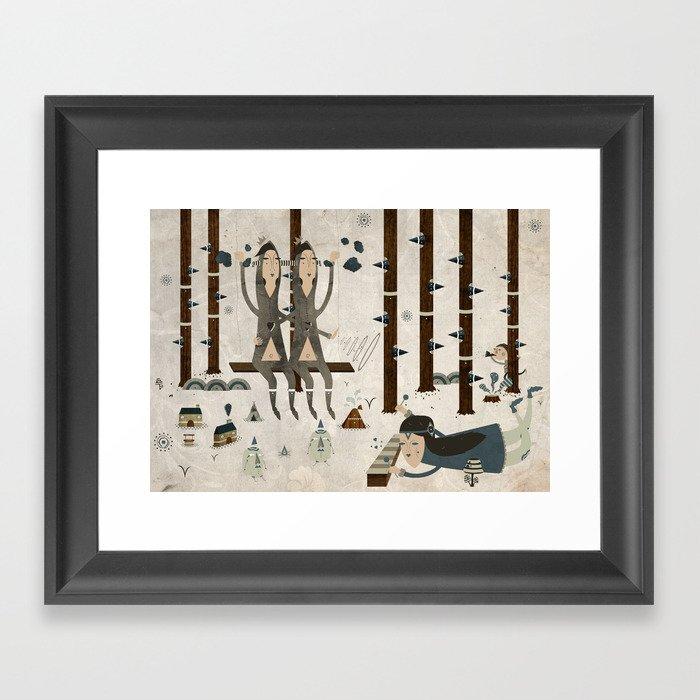 Music In The Forest Framed Art Print