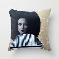 musa Throw Pillows featuring MUSA by Michela Ezekiela Riba