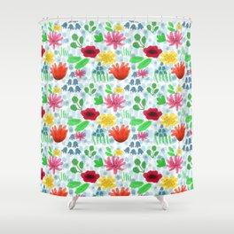 Campo fiorito acquarellato Shower Curtain