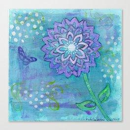 Flower Fantasy by Deborah Halcomb aka Daytona Damsel Canvas Print