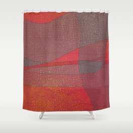 """Pastel Abstract Symmetrical Landscape"" Shower Curtain"