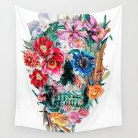 valentina Wall Tapestries featuring Momento Mori VI by RIZA PEKER