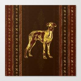 Azawakh Sighthound on African Pattern Canvas Print