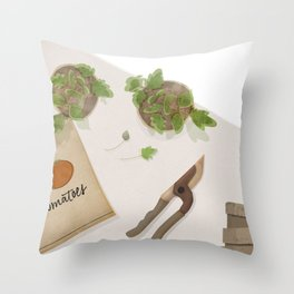 Feed Your Soul Tomatoes Throw Pillow