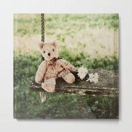 TEDDY BEAR SWING Metal Print