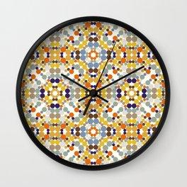 Friendship bracelet kaleidoscope Wall Clock
