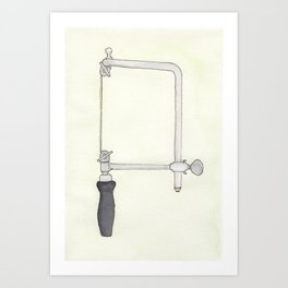 Jeweler's Saw Watercolor Art Print