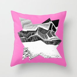 Glitch Scrunch Pink 2 Throw Pillow