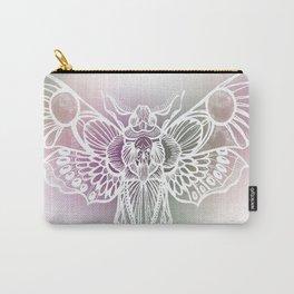 Botanical Moth, Moth Art, Succulent Hues Carry-All Pouch