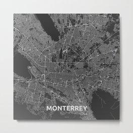 Monterrey, Mexico street map Metal Print