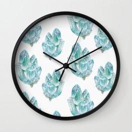Aquamarine Birthstone Watercolor Painting Wall Clock