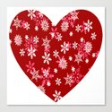 Red Heart Of Snowflakes Loving Winter and Snow by taiche