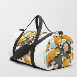 Snuggles with foxes Duffle Bag
