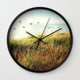 Seascape - One late, lazy, beautiful morning Wall Clock