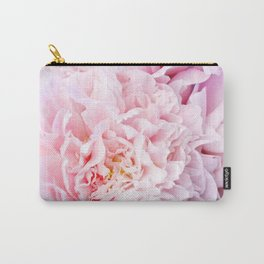 Peony Flower Photography, Pink Peony Floral Art Print Nursery Decor A happy life - Peonies 3 Carry-All Pouch