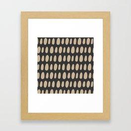 Brush Strokes Gold Framed Art Print