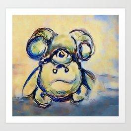 Tumbling Teddy Bear by CheyAnne Sexton Art Print