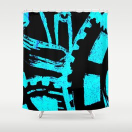 Industrious Movement Shower Curtain