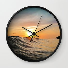 Sunset in Paradise Wall Clock