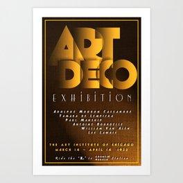 Art Deco Exhibition Poster Art Print