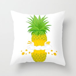 Fruit Cool Pineapple Graphic T-shirt Cutted Half Spin Smoking Cool Cute Design For You And Family Throw Pillow