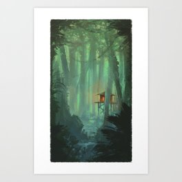 A Lonely Home Art Print