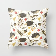 Cute hedgehogs Throw Pillow
