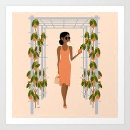 orange trees Art Print
