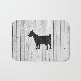 Rustic Farmhouse Goat Cottage Wood Panel Barn Bath Mat