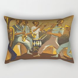 African American Masterpiece 'Harlem Musicians' by Elizabeth Olds Rectangular Pillow