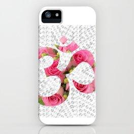 Aum Rose Silver Mandala iPhone Case
