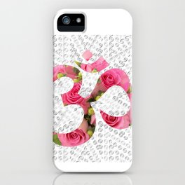 Aum Rose Silver Mandala iPhone Case